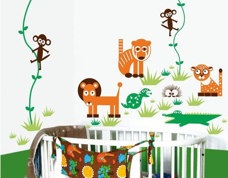 Habitaci n infantil original de la selva im genes y fotos for Habitacion infantil original