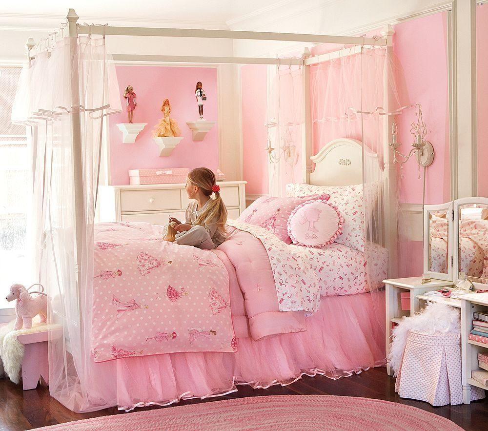 habitaciones de nias de color rosa - Habitaciones Nias