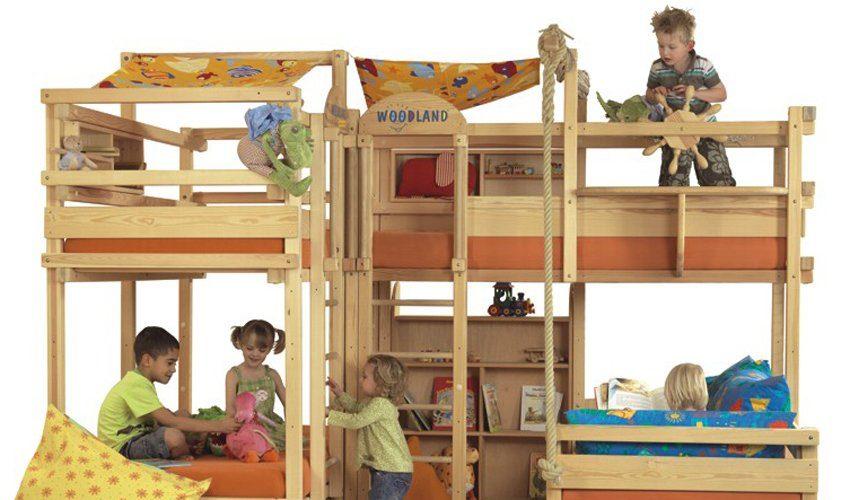 Literas infantiles originales woodland im genes y fotos for Cuartos para ninas con literas