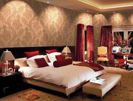 Galer a de im genes papeles pintados para dormitorios for Papel pared habitacion matrimonio