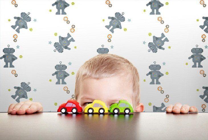 Papeles pintados infantiles de robots im genes y fotos - Papeles infantiles para paredes ...