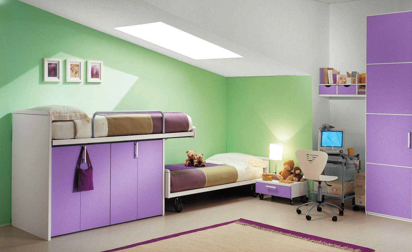 Green and Purple Bedroom Ideas 1440 x 881
